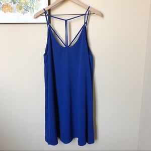 Wayf Strappy Royal Blue Mini Dress Size L